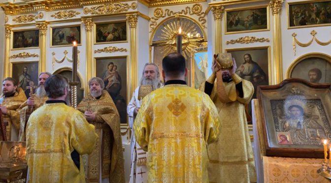 24 февраля 2020 года в храме святителя Николая Мирликийского в с. Здехово состоялось первое с 1992 года архиерейское богослужение
