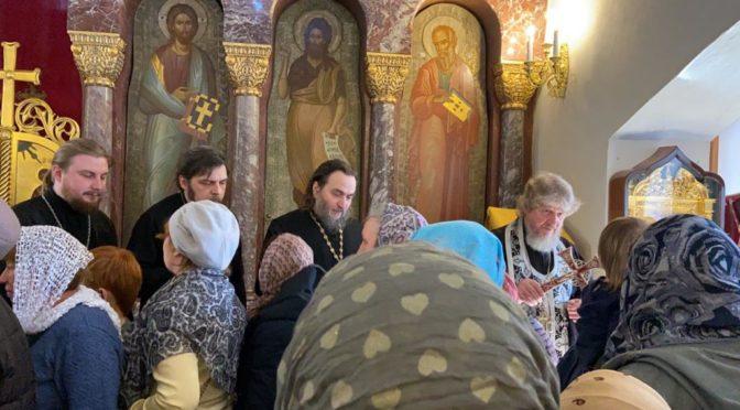 Прощёное воскресенье в храме Рождества Христова