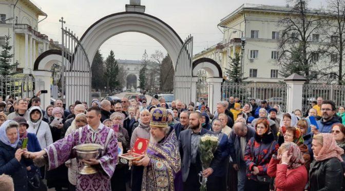 29 марта 2020 года, в Неделю 4-ю Великого Поста, прп. Иоанна Лествичника, в храм Рождества Христова был принесен ковчег с мощами священномученика Харалампия