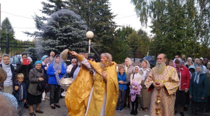 13 сентября 2020 года в храме свт. Николая в Здехово встретили икону святых угодников Божиих