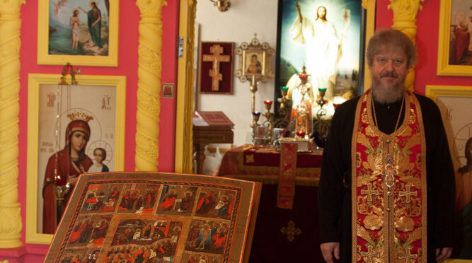 18 лет назад состоялось освящение домового храма в честь Воздвижения Честного и Животворящего Креста Господня в Матросской Тишине